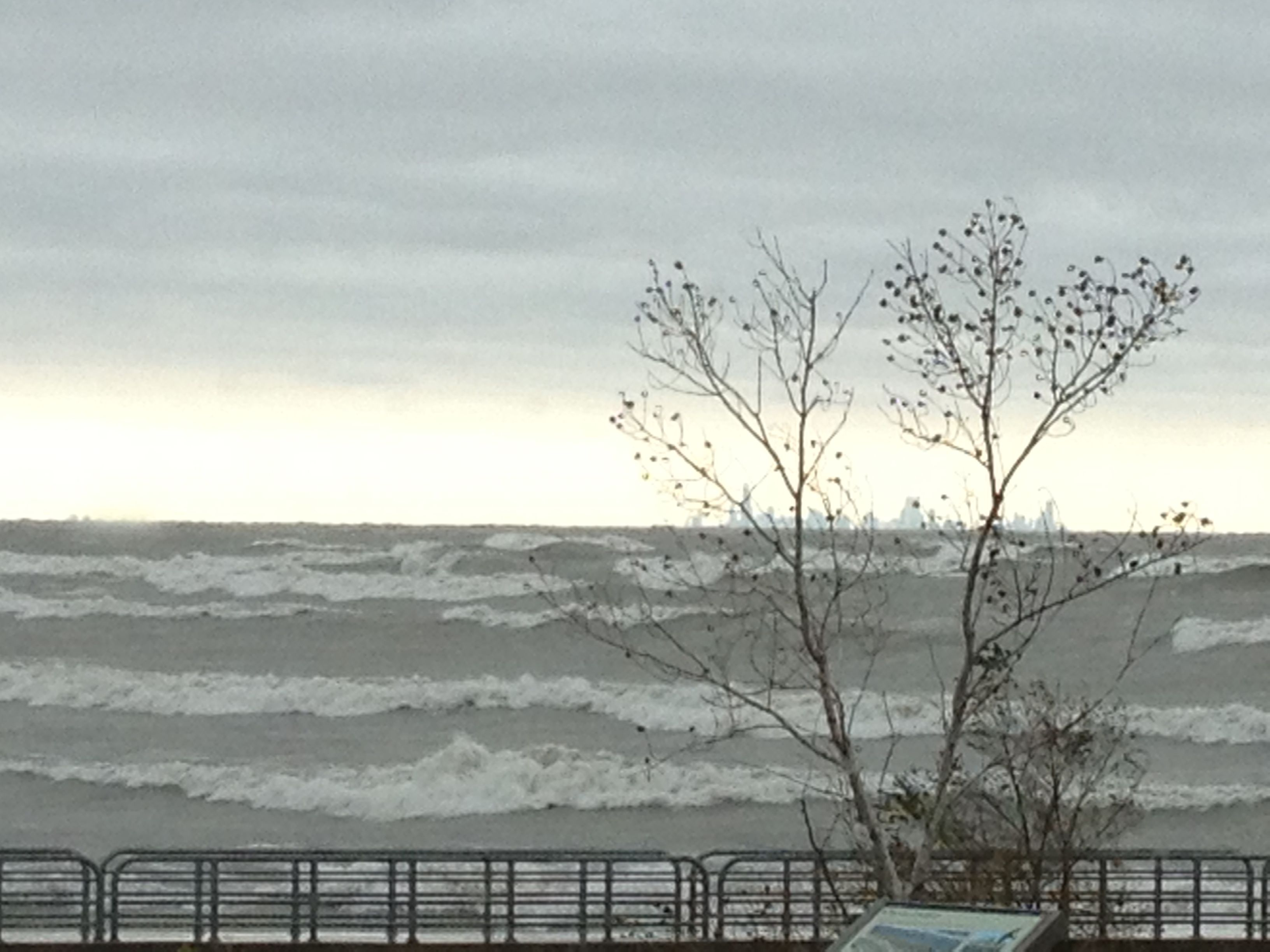 Waves Crashing At Portage Beach