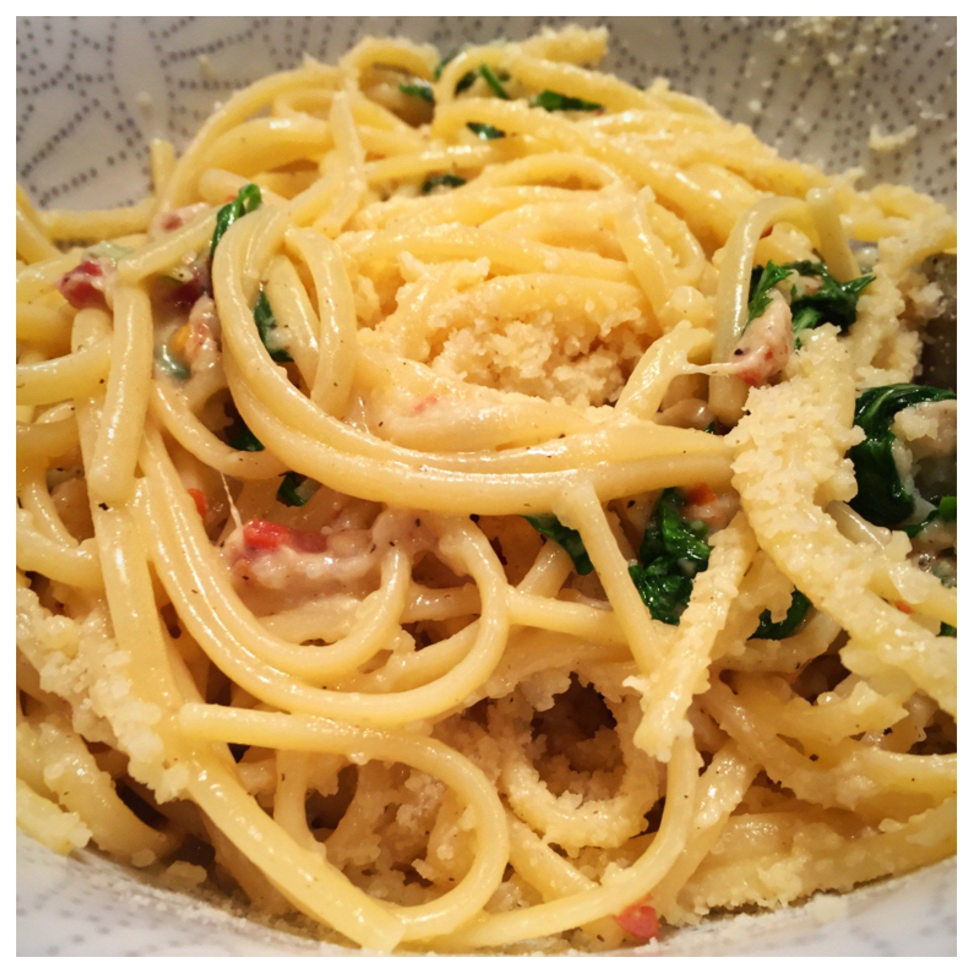 Cacio e Pepe with Lemon and Arugula