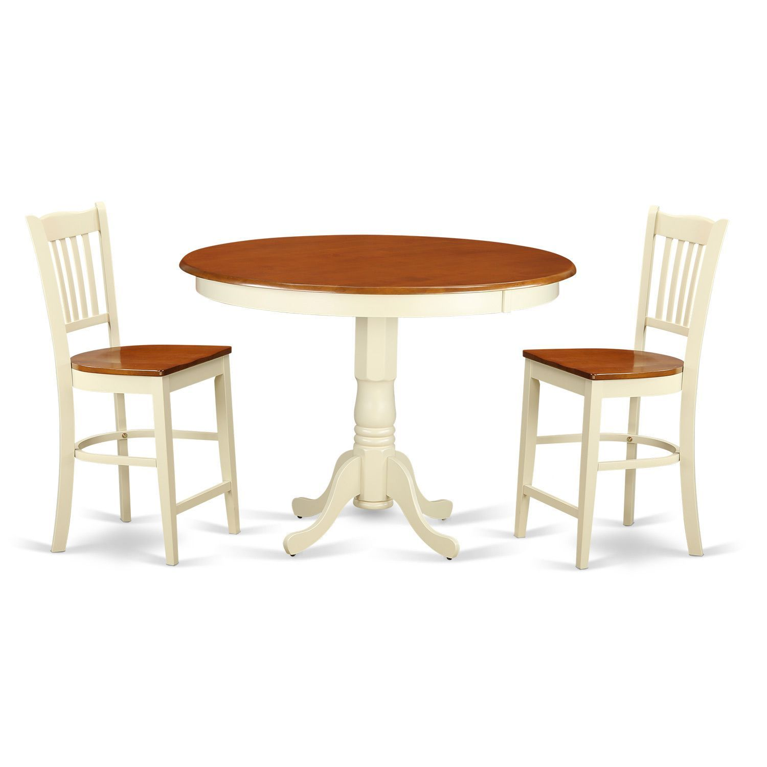Solid Wood 3-piece Counter-height Dining Table Set | High Top Tables ...