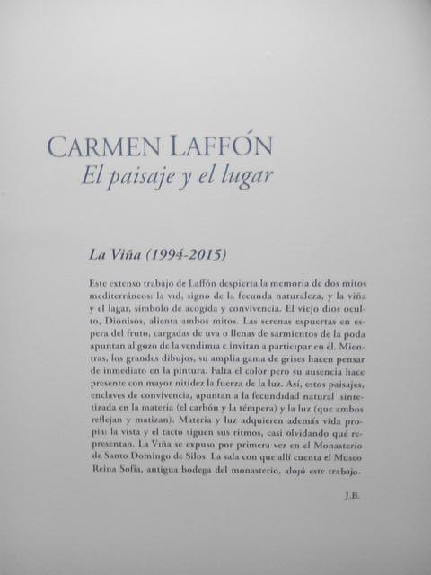 """Contenido de """"El Paisaje y el Lugar"""", de """"Carmen Laffón"""". #ElPaisajeYElLugar #CarmenLaffón #ExposicionesUGR"""