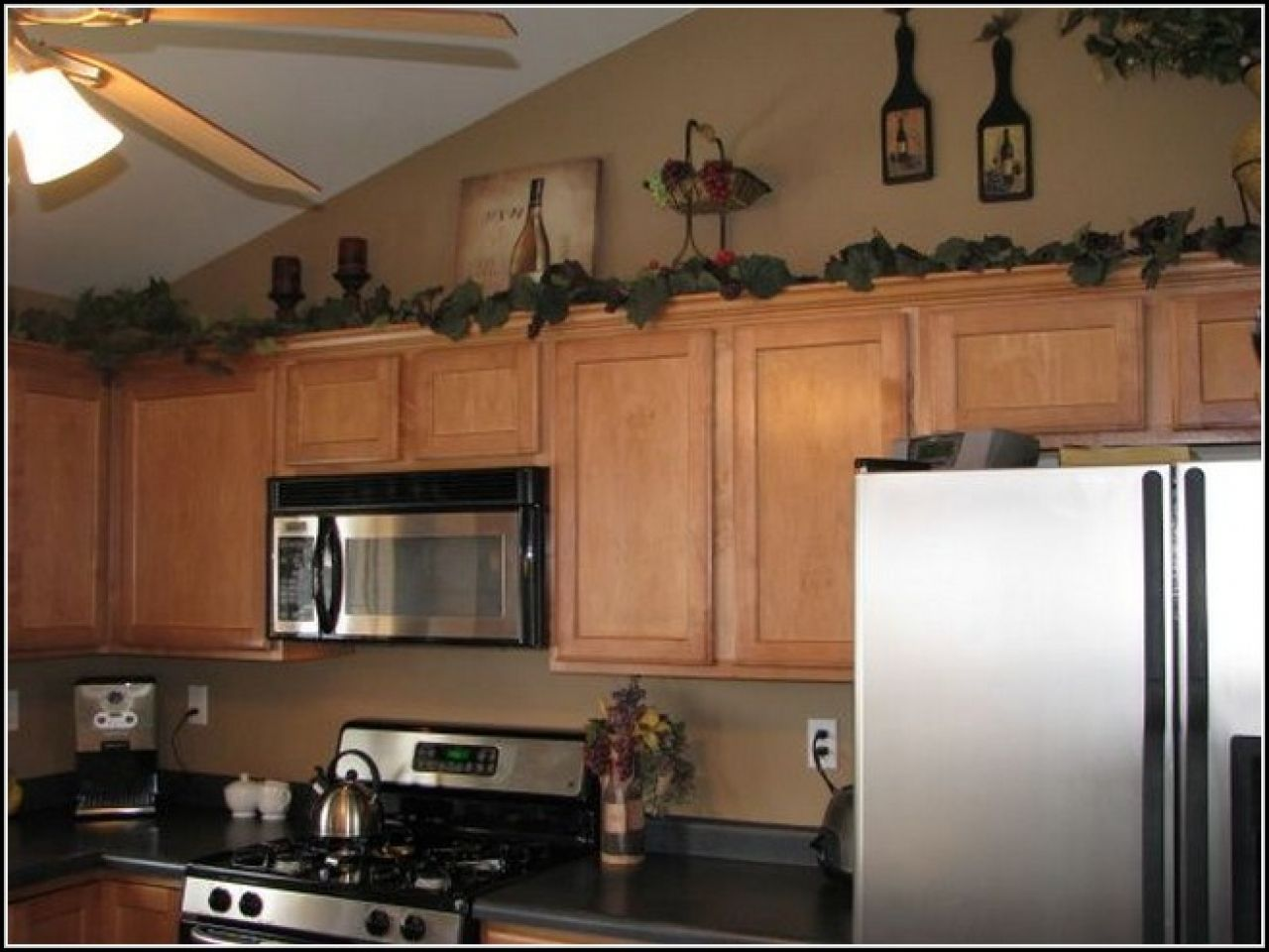 Kitchen decoration decorating above cabinet ideas top home home