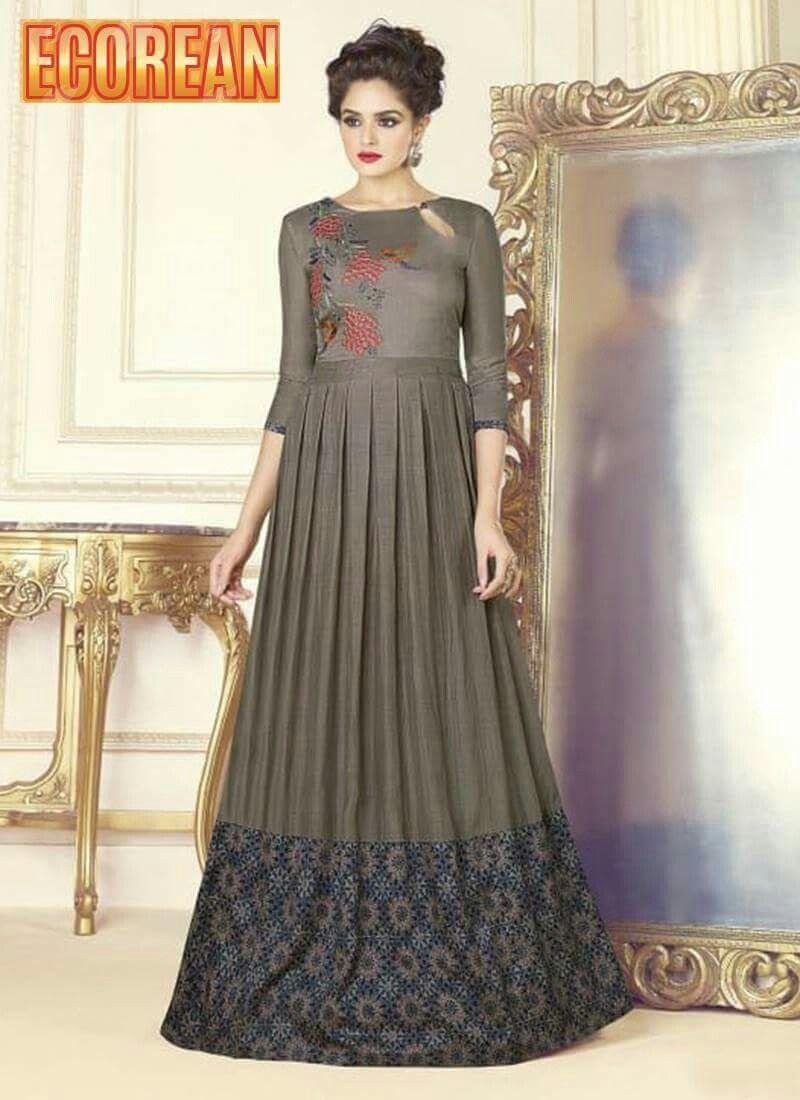 Indowestern gown#maxi dress#party gown Ecorean.com#ecorean ...