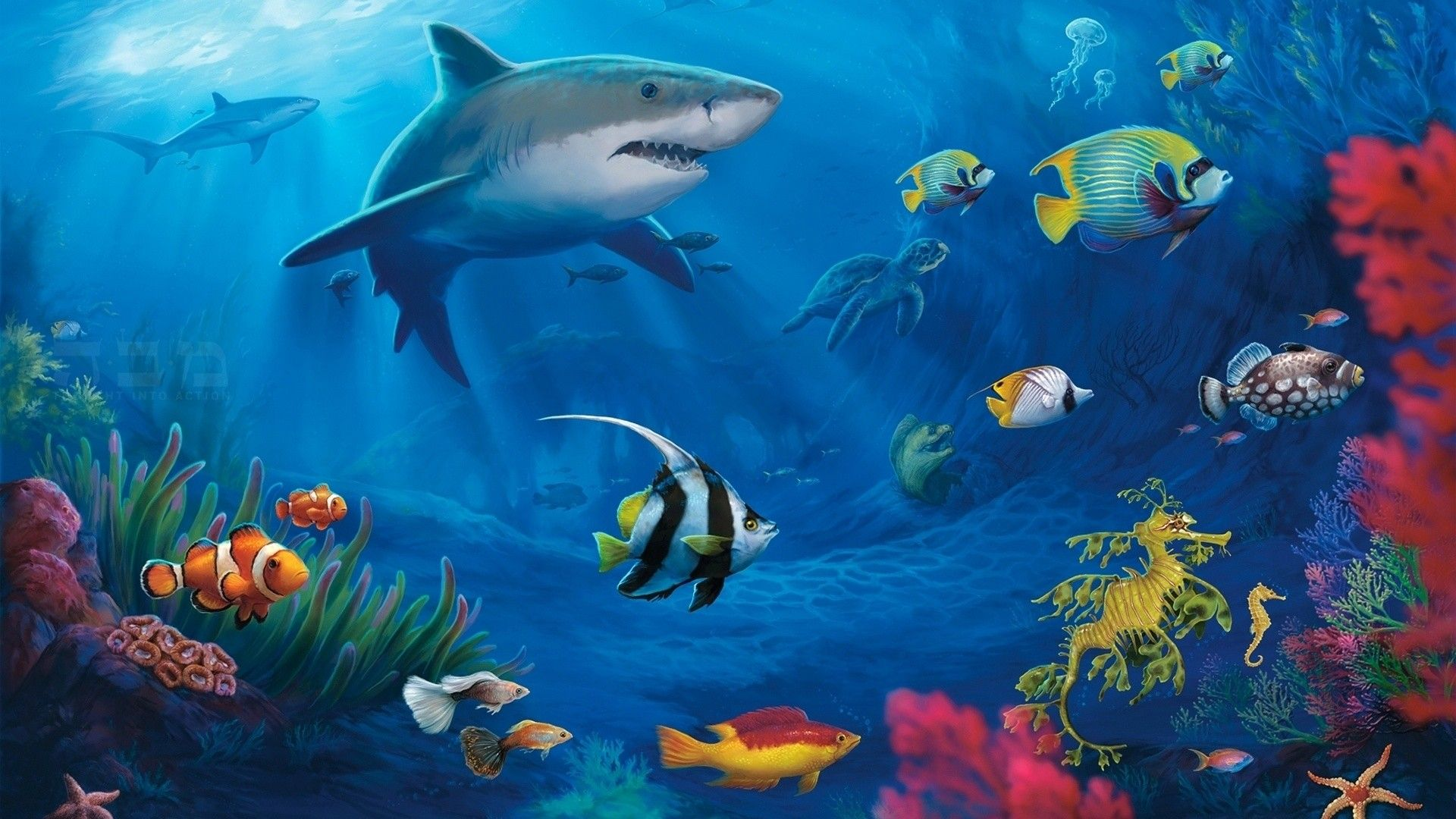 Anime Live Wallpaper Free Download For Pc Cool Live Wallpapers For Pc 50 Images Anime Wallpapers Hd In 2020 Underwater Wallpaper Live Wallpaper For Pc Shark Painting