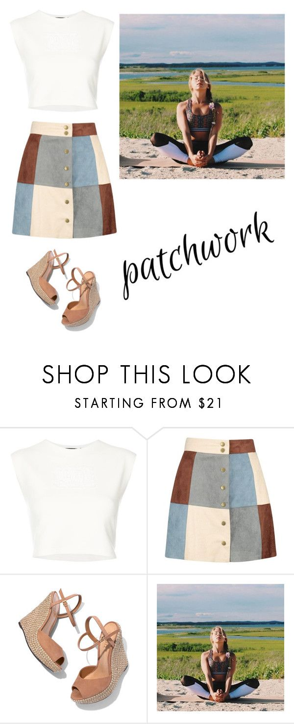 """patchwork"" by mystyle1234 ❤ liked on Polyvore featuring Puma, Boohoo and Schutz"