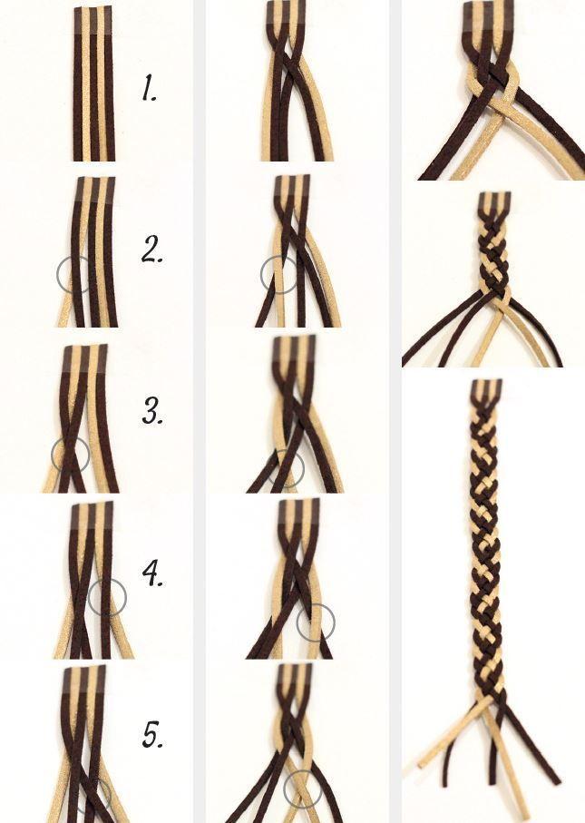seven strand braid by barbara billiard 7 by jean  craftIdea org is part of Diy bracelets tutorials -