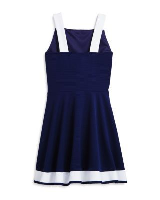 Sally Miller Girls' Bridget Contrast Dress - Big Kid - Navy/ivory #sallymiller