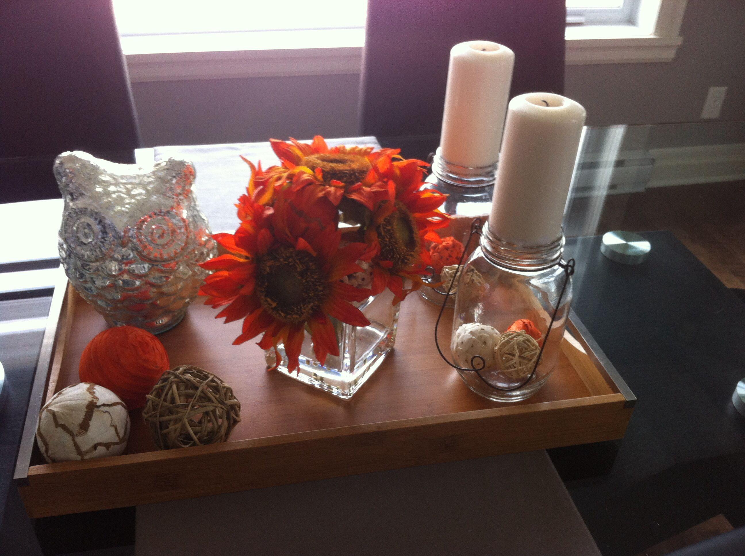Centre de table d'automne! DIY