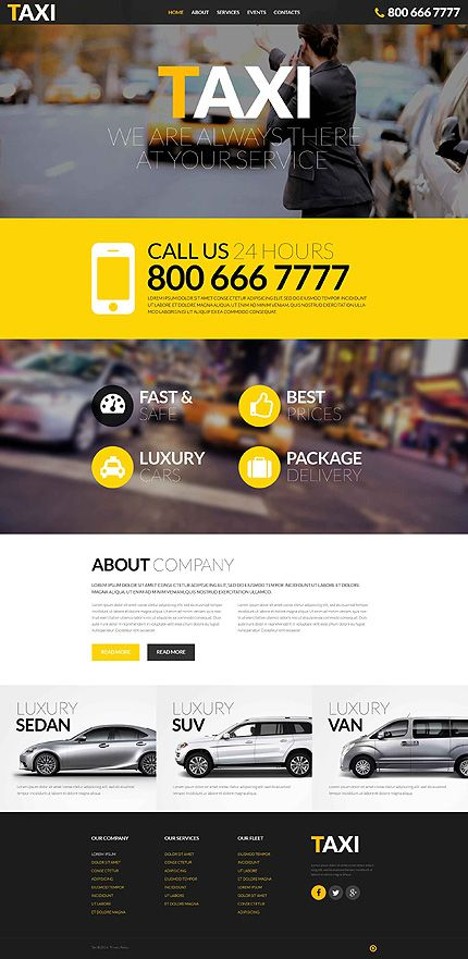 Template 52390 Ensegna Themes Responsive Website Template Website Template Taxi