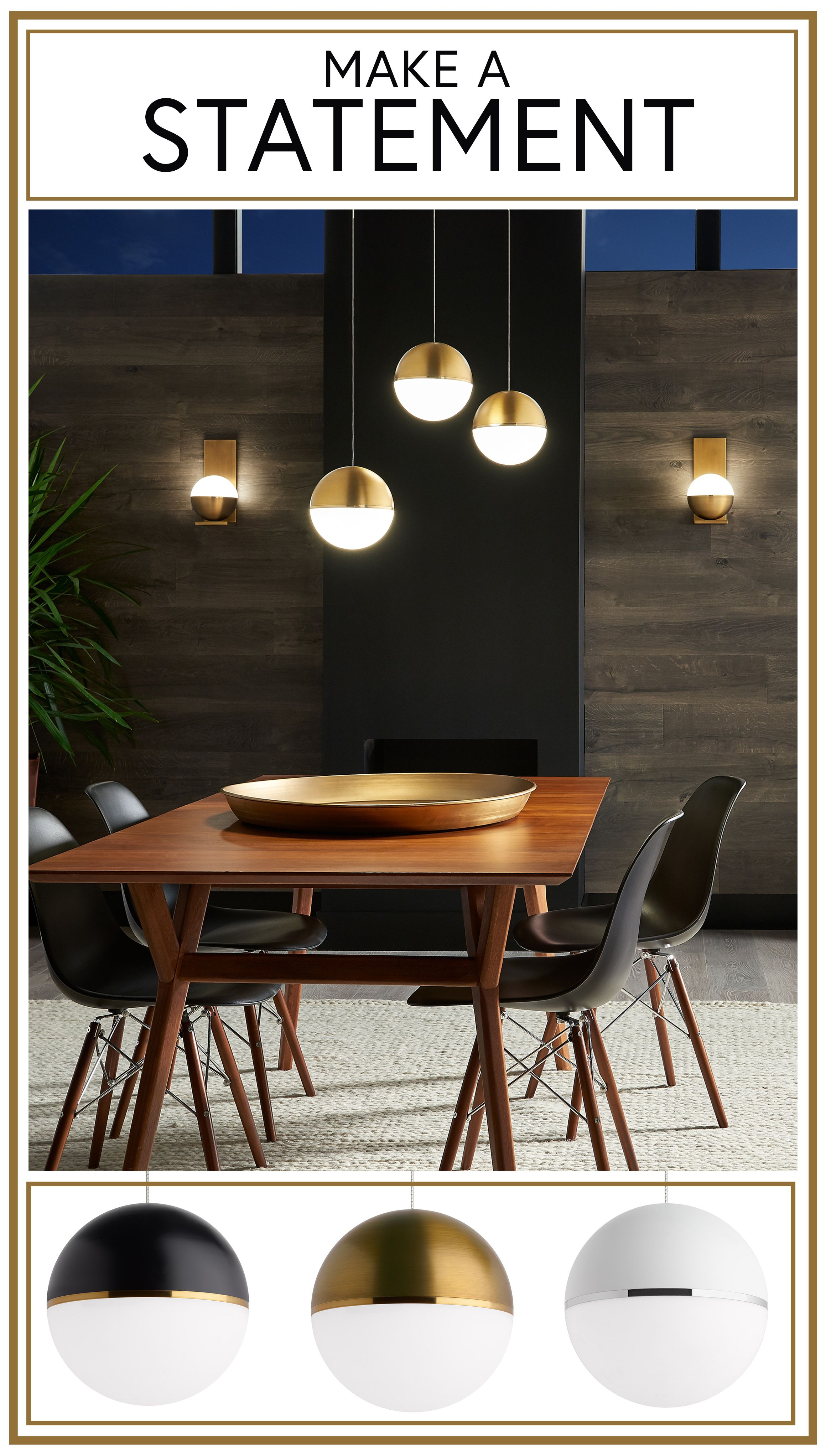 Find amazing statement lighting in the Akova collection!