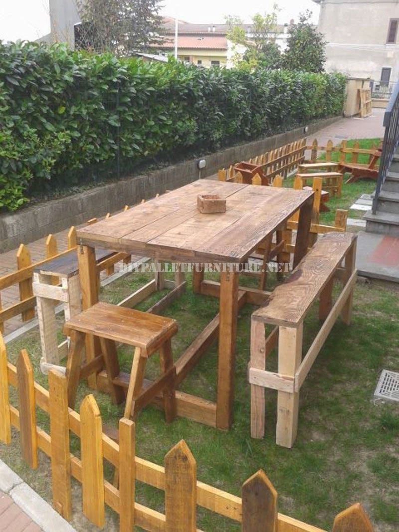 Set De Muebles De Exterior Para El Jard N De Palets 2 Jpg 800  # Muebles Para Jatdin