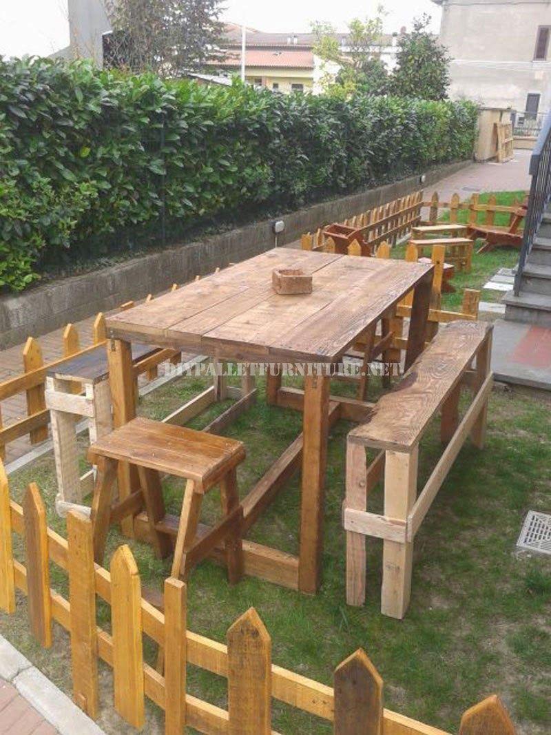 Set+de+muebles+de+exterior+para+el+jardín+de+palets+2.jpg (800×1067 ...