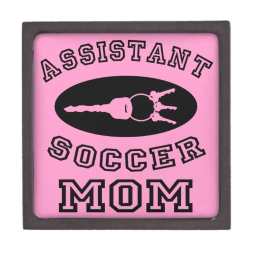 Assistant Soccer Mom Premium Jewelry Boxes.  #zeitgeberenzyme  Other Soccer scratchings at: www.zazzle.com/SoccerMomCity?rf=238479042766184488 and http://www.cafepress.com/SoccerMomCity?aid=78178956