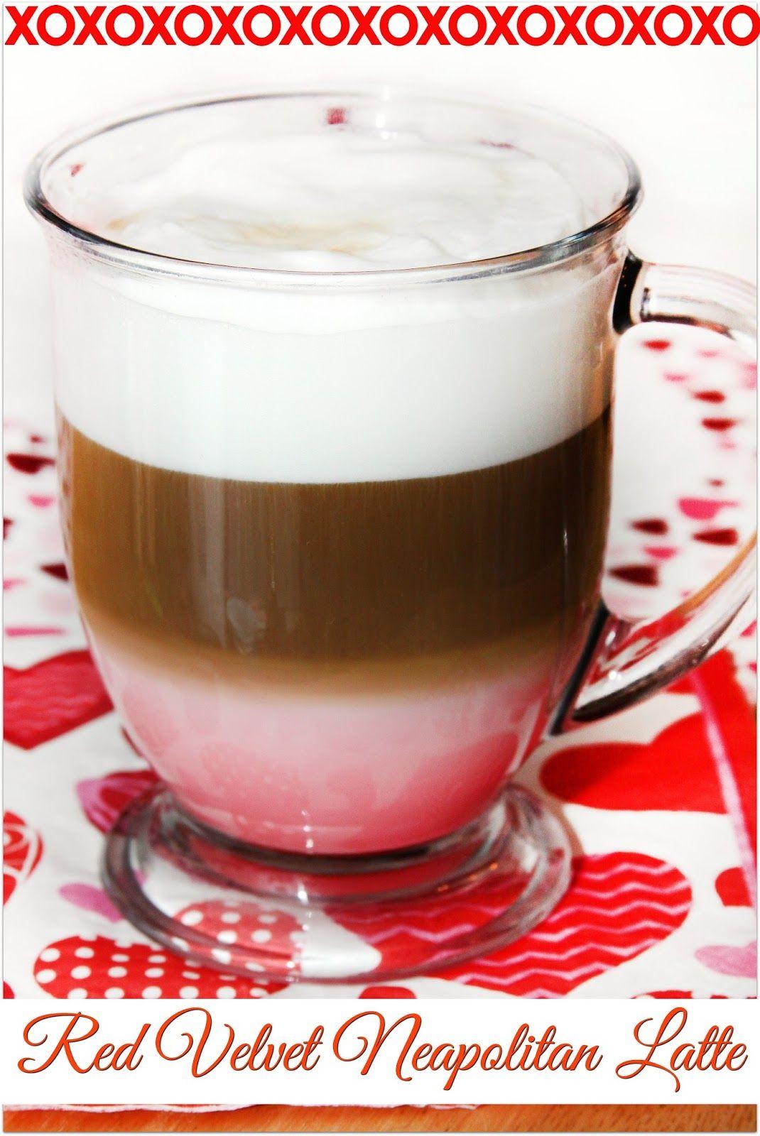 Red Velvet Neapolitan Latte Recipe Latte Coffee Recipes Neapolitan