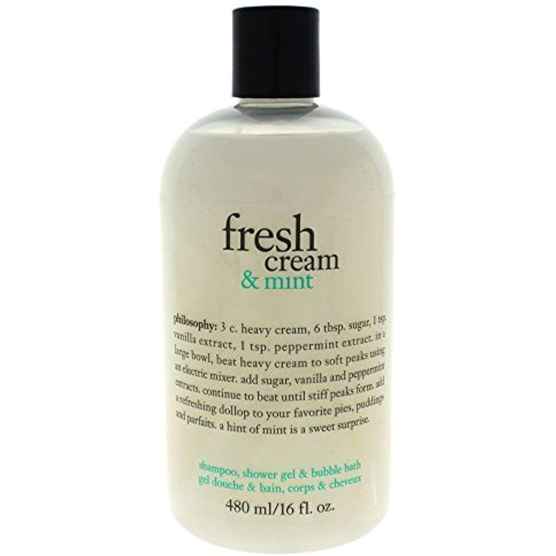 Philosophy Fresh Cream Skincare Mint Shampoo Philosophy Fresh Cream Shower Gel