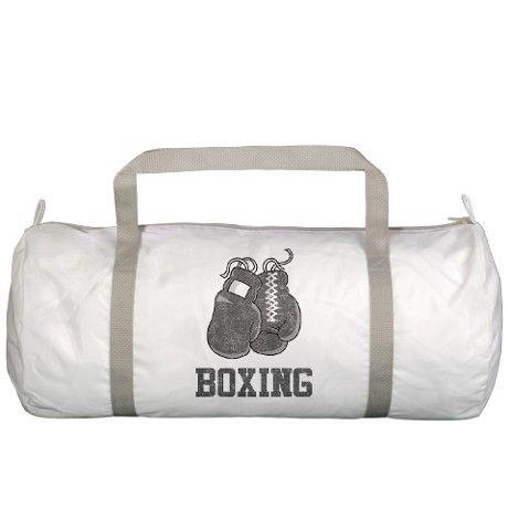 Vintage Boxing Gym Bag On Cafepress