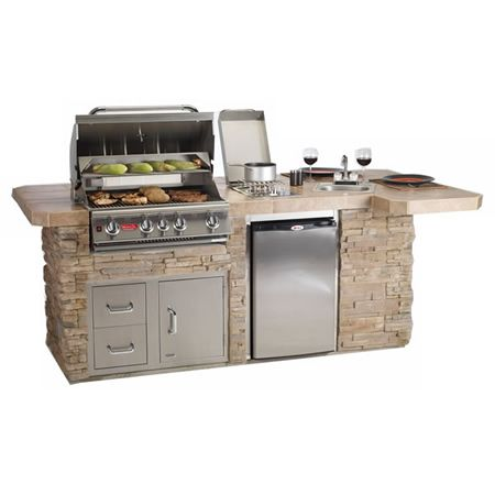 Bull outdoor bbq grilling island w built in grill grill for Built in outdoor grill plans