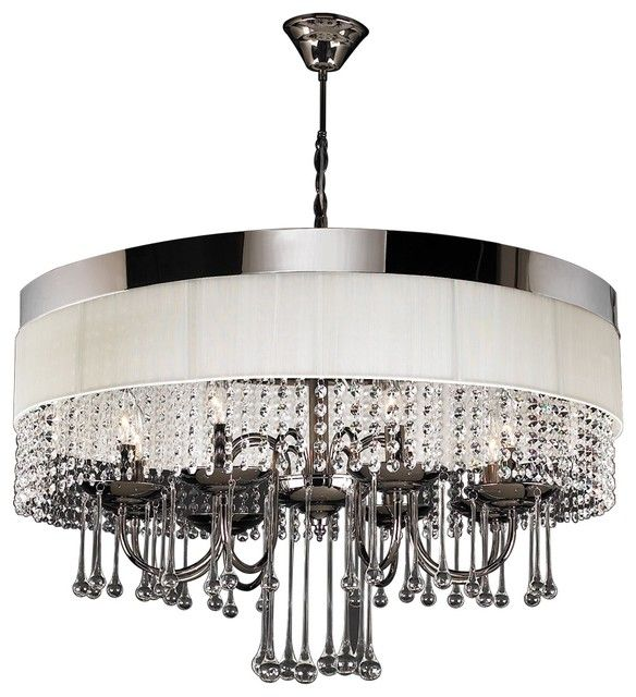 Modern contemporary plc lighting elisa collection black modern contemporary plc lighting elisa collection black chrome chandelier with off white linen aloadofball Image collections