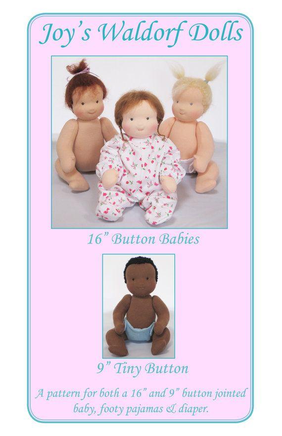 Joy\'s Waldorf Dolls 16 Button Babies and 9 Tiny by ThisChildDolls ...