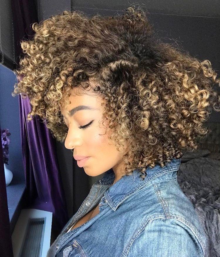 Pinterest Andressaveraas Natural Hair Styles Blonde Natural Hair Curly Hair Styles Naturally