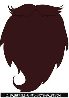 image regarding Printable Beard named No cost Printable Large Brown Beard Image Booth Prop Avrams