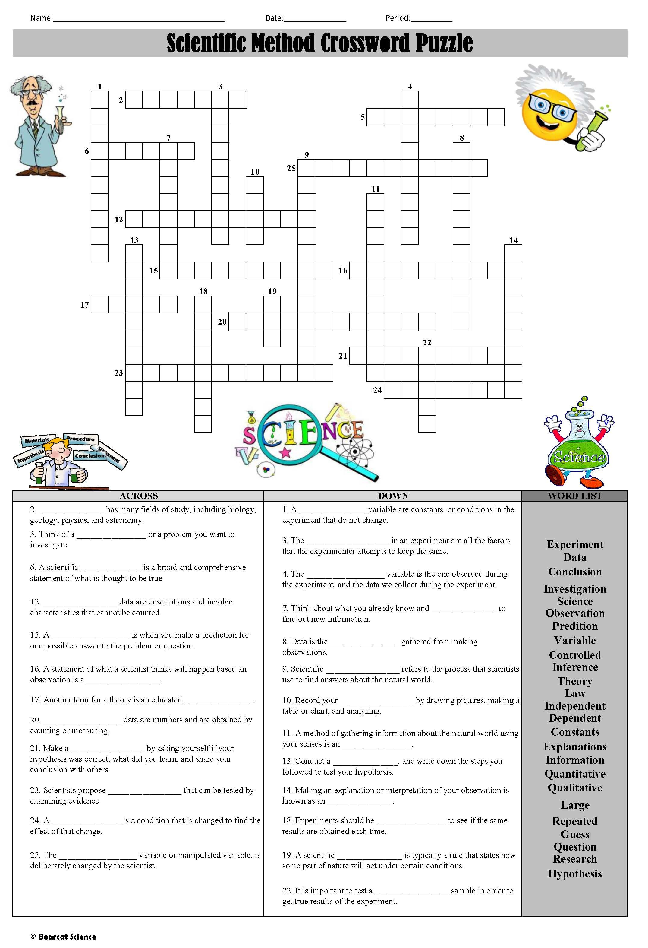 Lab Safety Crossword Puzzle Answer Key