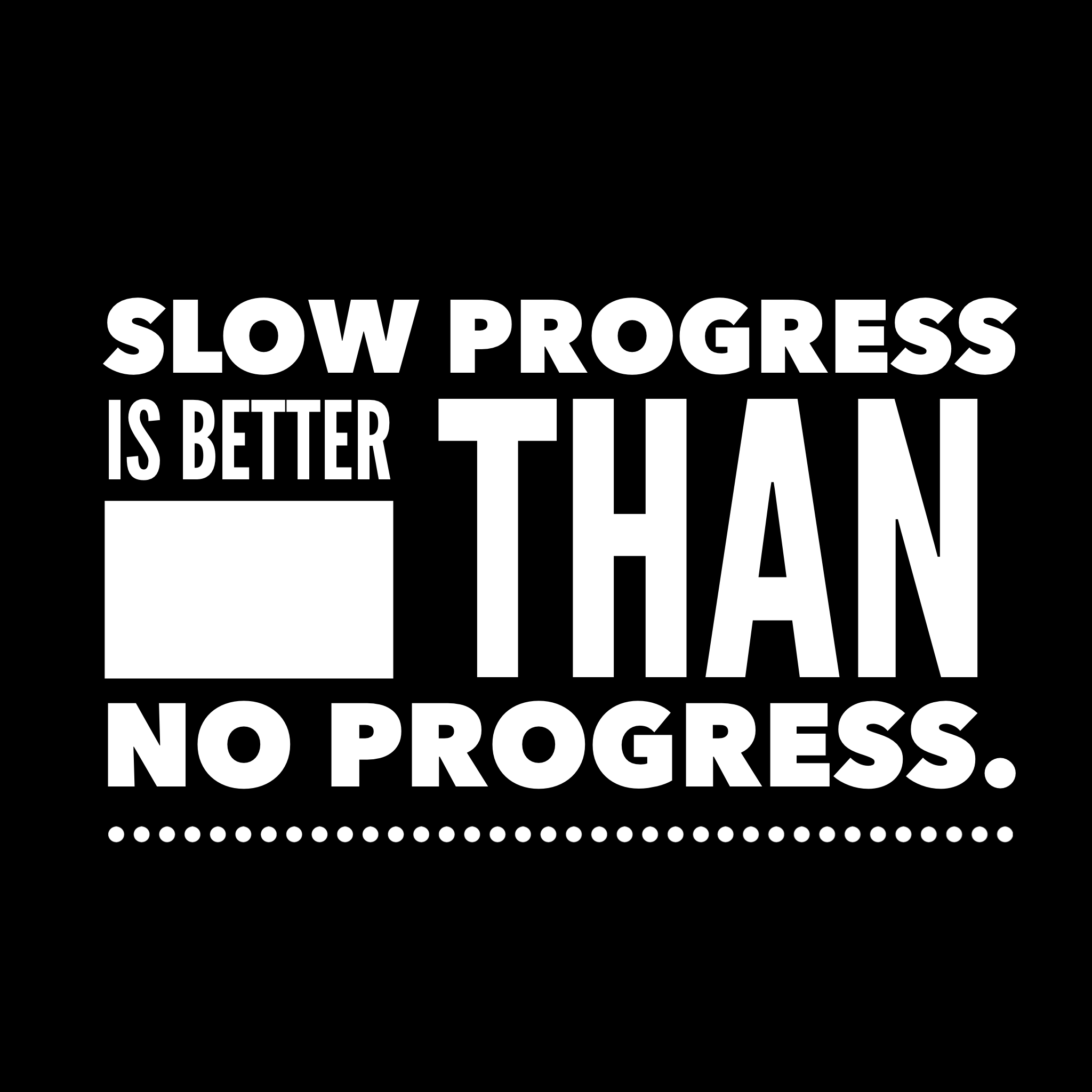 Progress Quotes Slow Progress Is Better Than No Progress#quote #quoteoftheday .