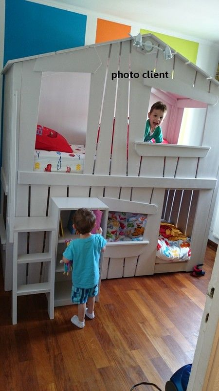 lit cabane superpos 2 id es pour les enfants pinterest bunk bed toddler bunk beds and. Black Bedroom Furniture Sets. Home Design Ideas