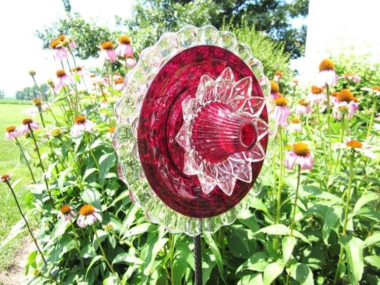 Schone Blume In Rot Und Weiss Aus Glas Geschenke Pinterest Ruben