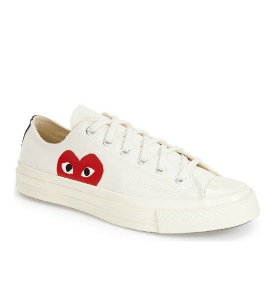Comme Des Garcons Play Black Converse Edition Half Heart Chuck Taylor All star 70 Low Sneakers
