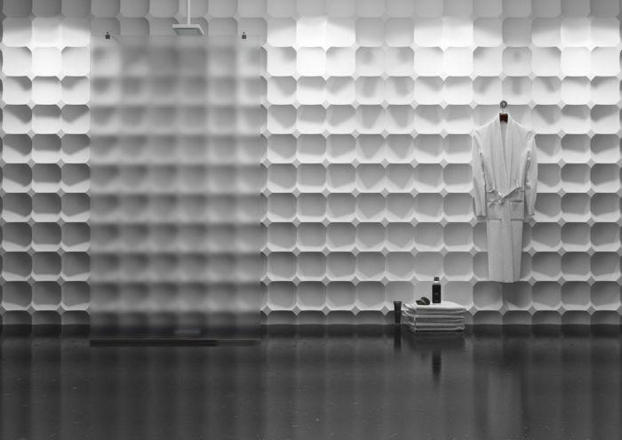 3D Wandpaneele - 37 wunderschöne Beispiele - Archzine.net Wanddeko