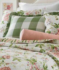 Linen Check Ruffled Pillow Sham