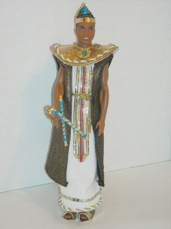 Ken Egyptian Prince Sleeveless Court Caftan, Coat and accessories