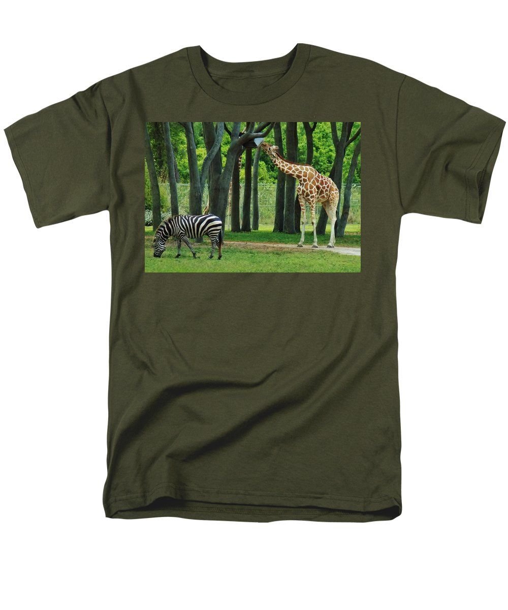 African Animals Men's T-Shirt (Regular Fit) featuring the photograph Lunch. African Style by Tiana Art