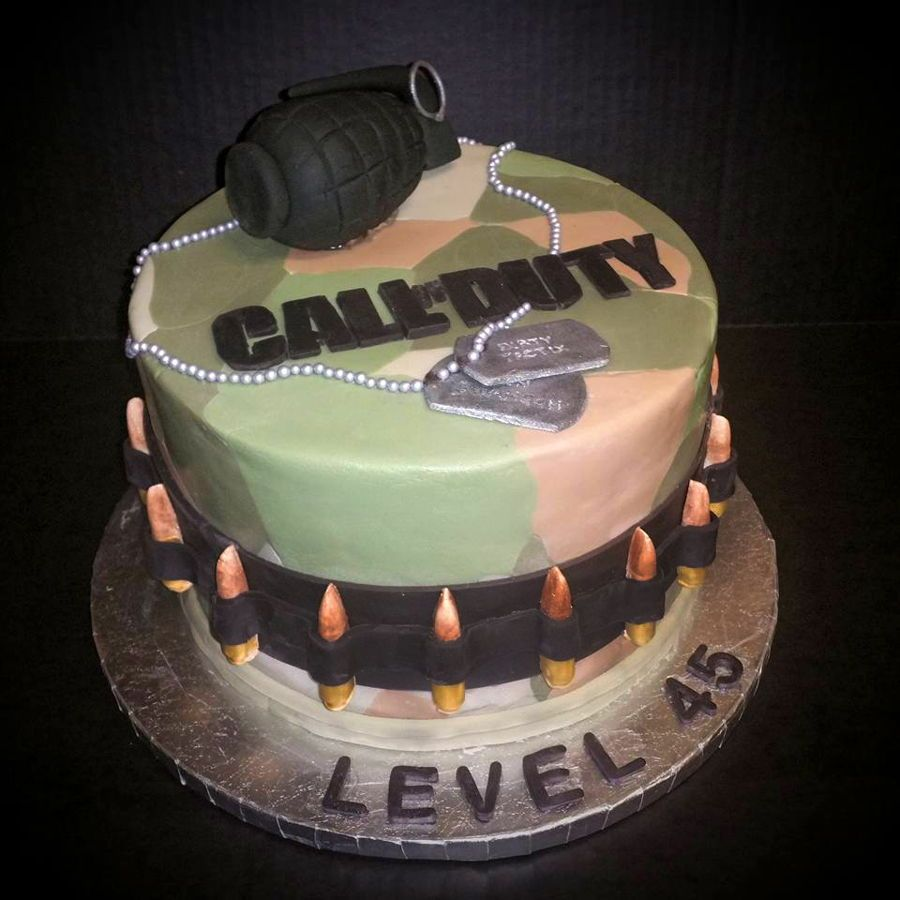 Pleasant Call Of Duty Birthday Cake Call Of Duty Cakes First Birthday Funny Birthday Cards Online Inifodamsfinfo