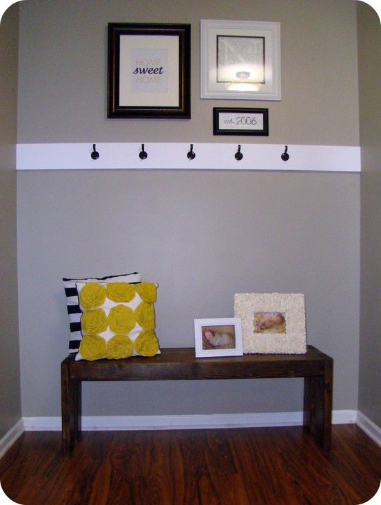 Entryway Bench Love The Trim With The Hooks And Gallery
