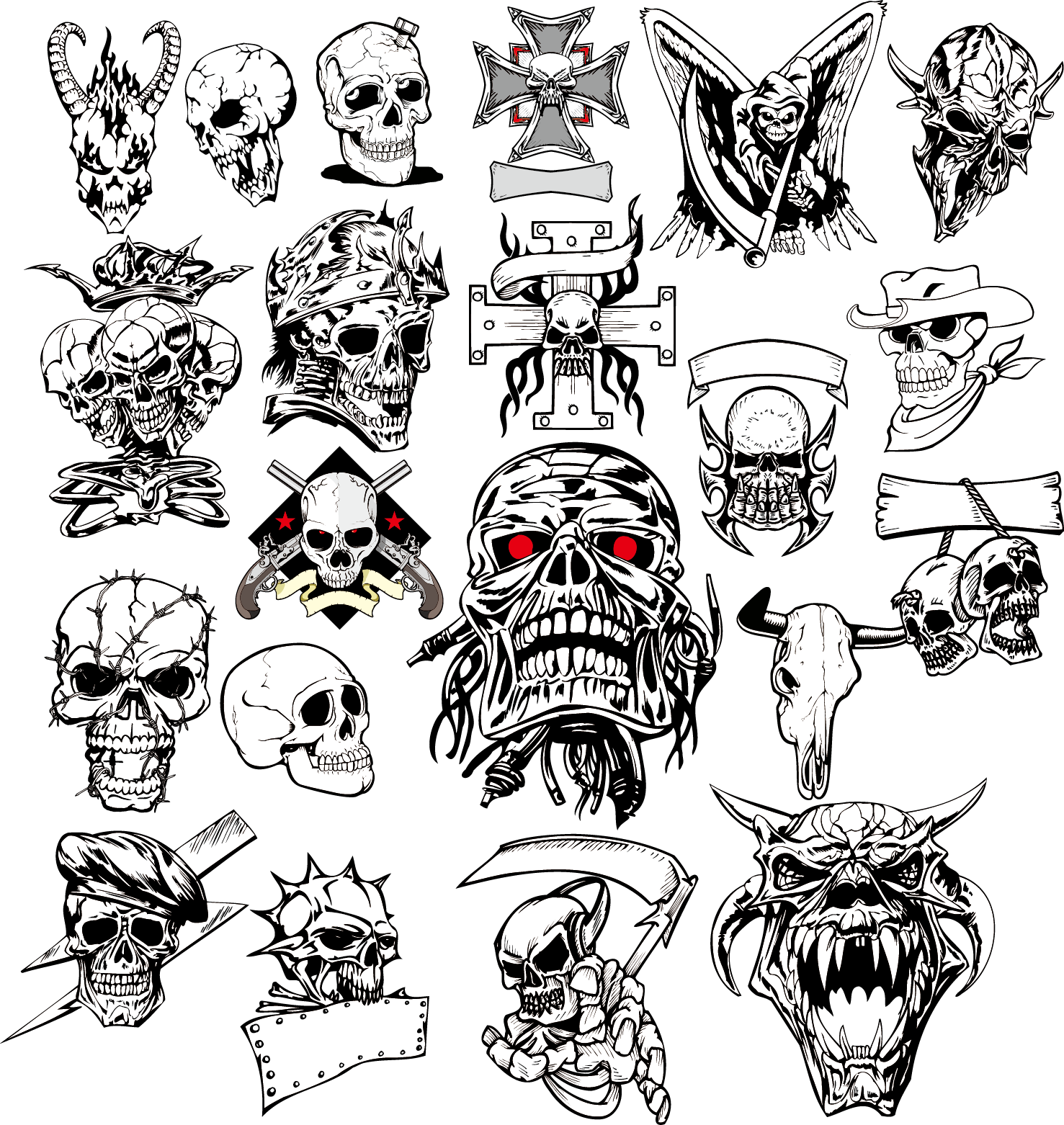 Image result for water effects skull vector Idées de