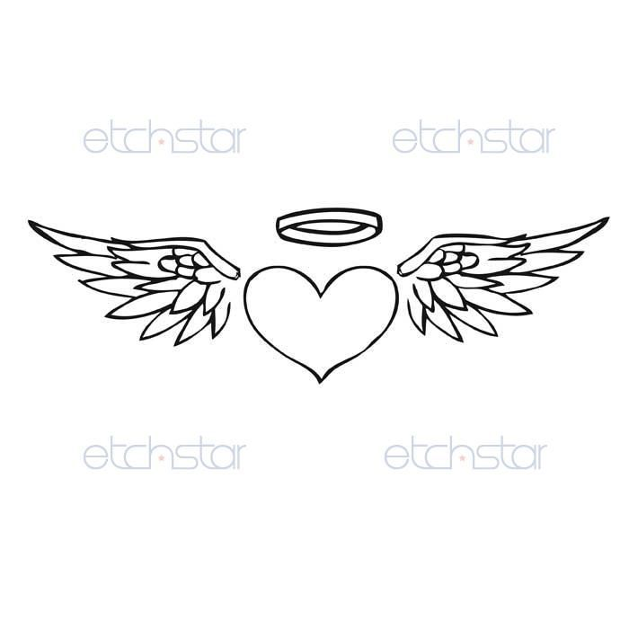 Image result for tattoo heart simple | Tattoo idea | Halo ... Angel Wings Heart Halo
