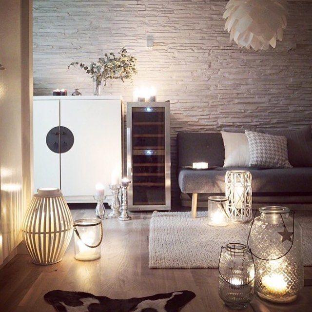 Une #déco cocooning pour le #salon ! #gris #décoration    wwwm