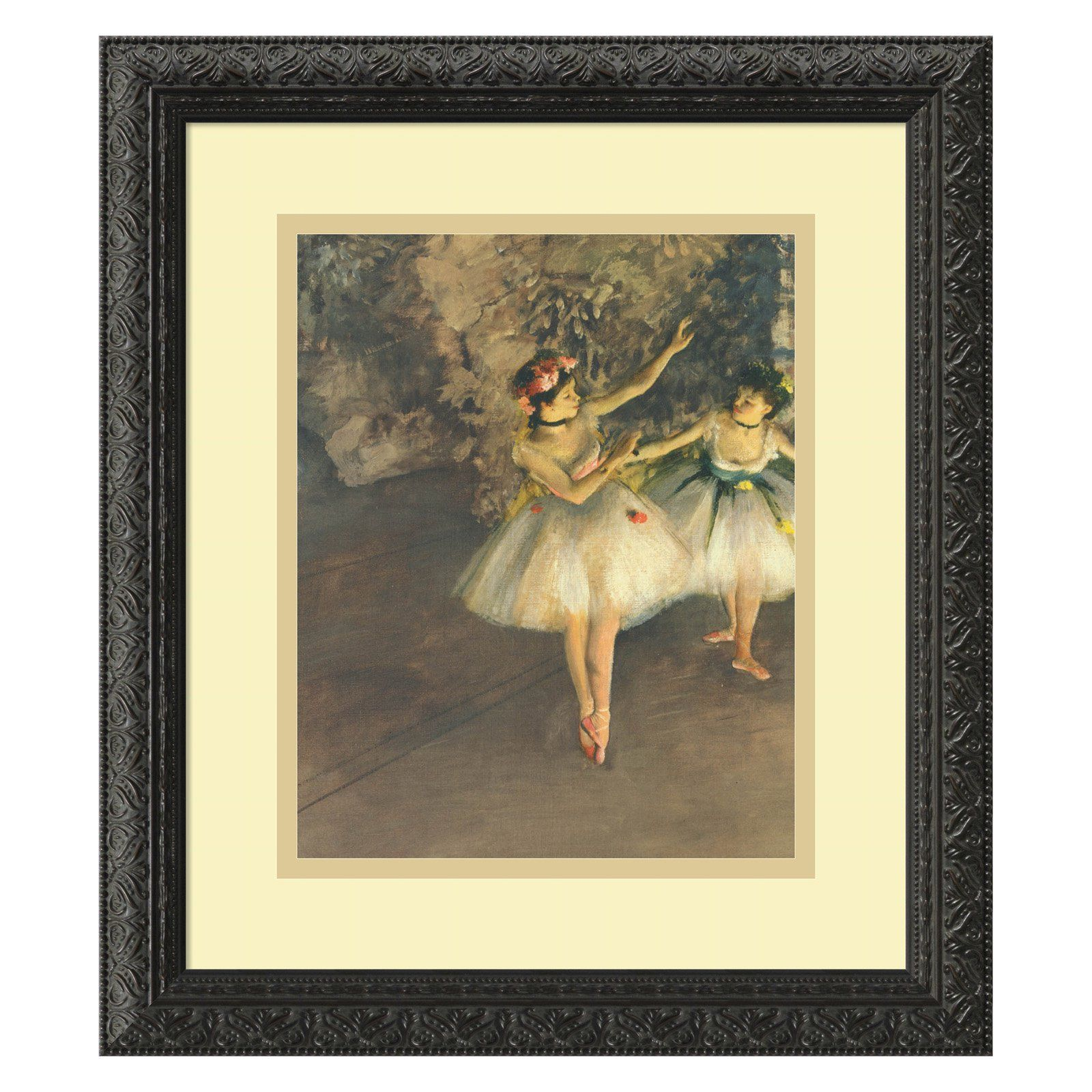Two Dancers on Stage c. 1874 Framed Wall Art by Edgar Degas - 14.12W ...
