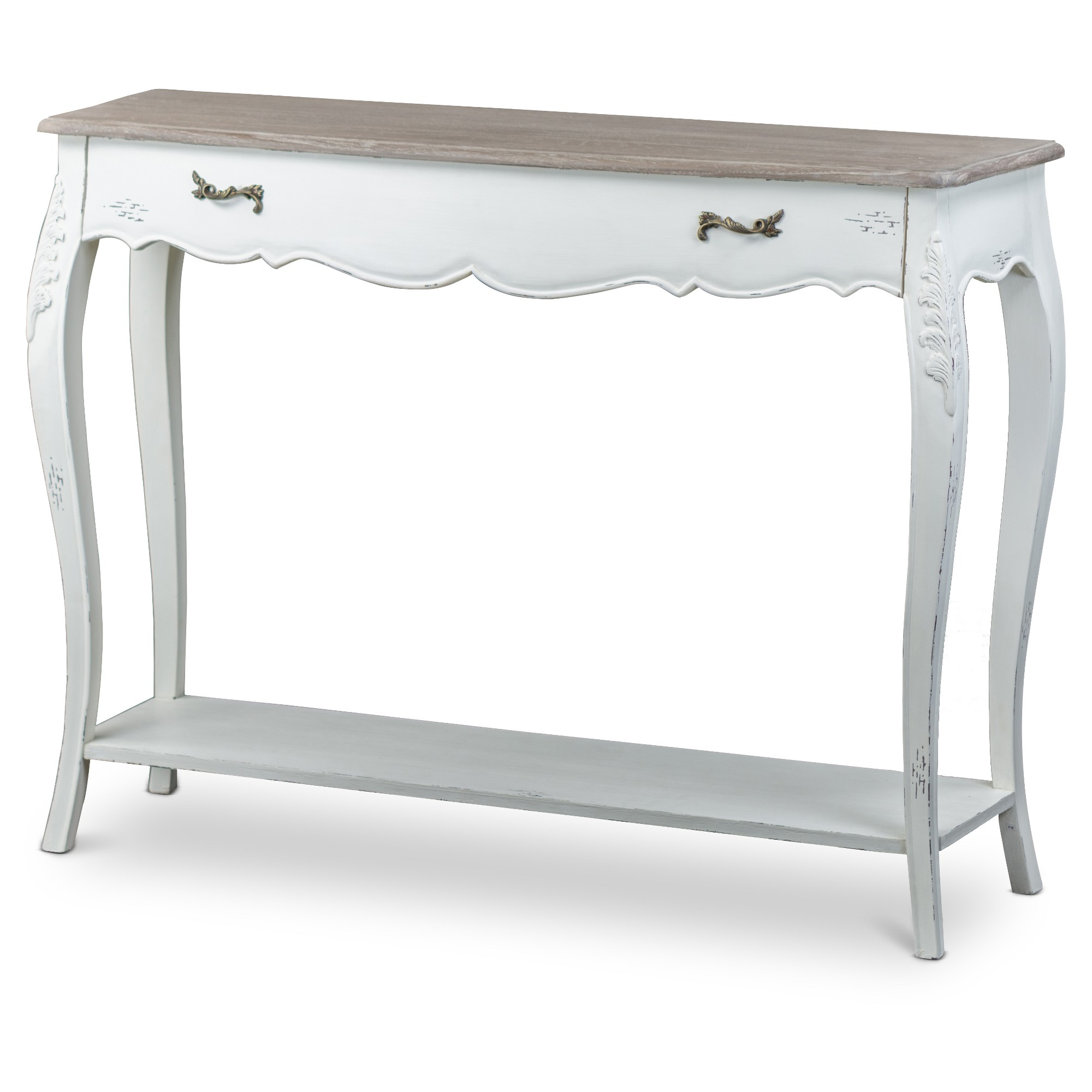 Bourbonnais wood traditional french console table baxton studio bourbonnais wood traditional french console table baxton studio white geotapseo Images