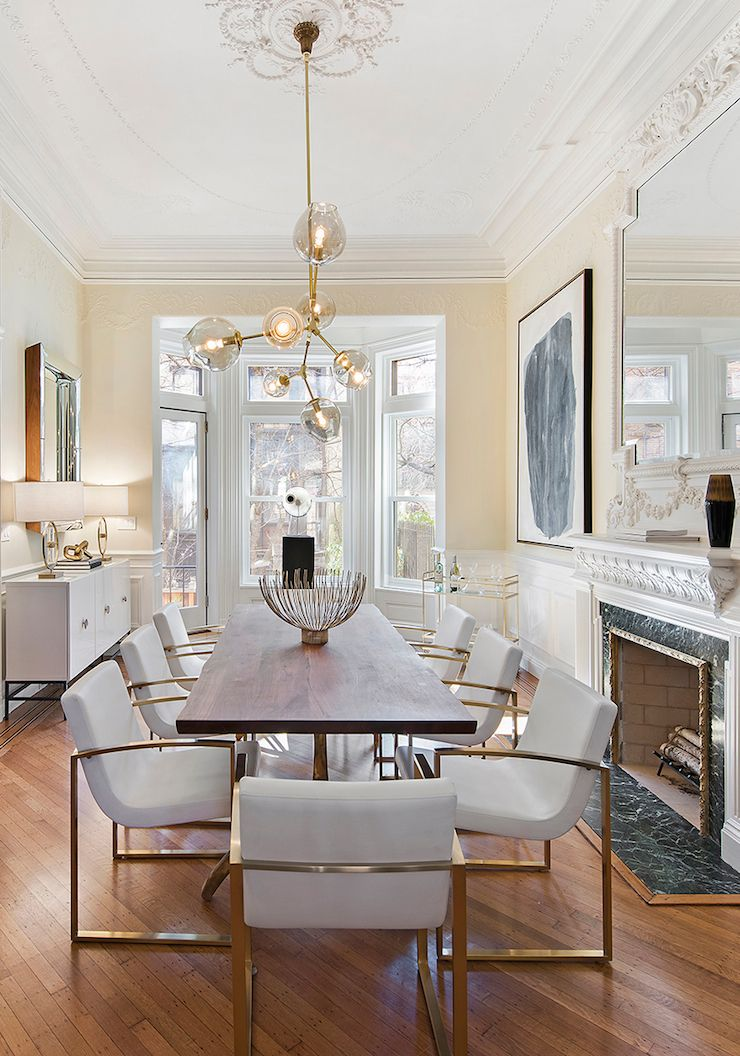 Glamorous Dining Room Brooklyn Townhouse Beautiful