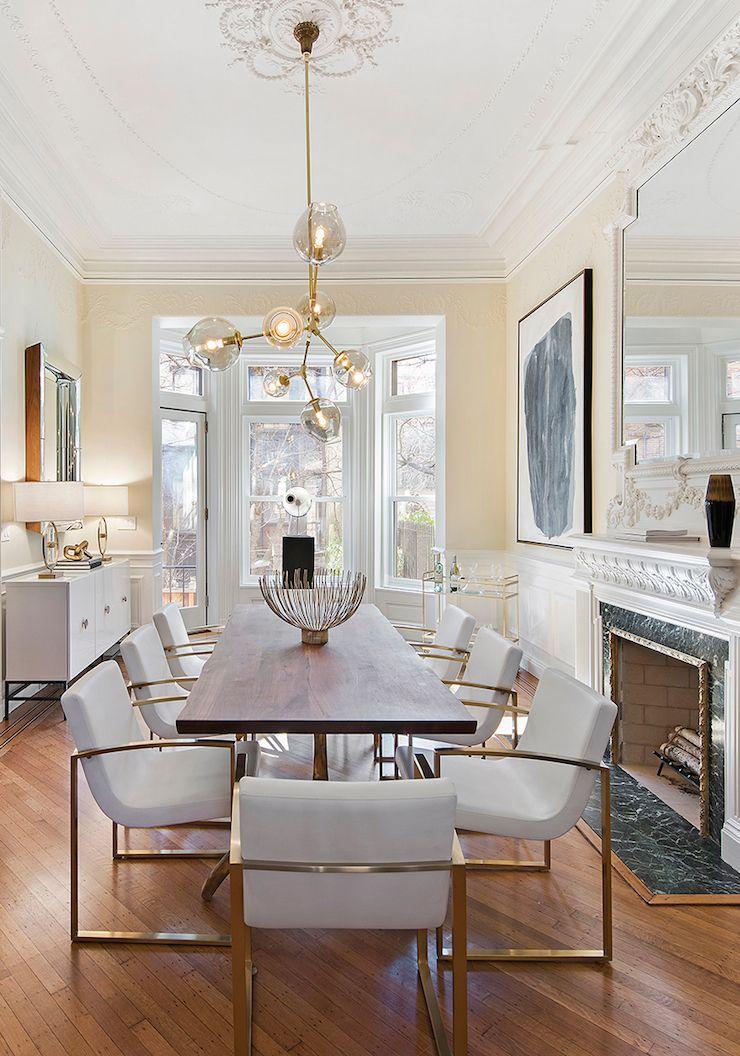 glamorous dining room  Brooklyn Townhouse  BEAUTIFUL