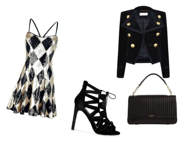 """""""Untitled #105"""" by suryadevara ❤ liked on Polyvore featuring Yves Saint Laurent and DKNY"""