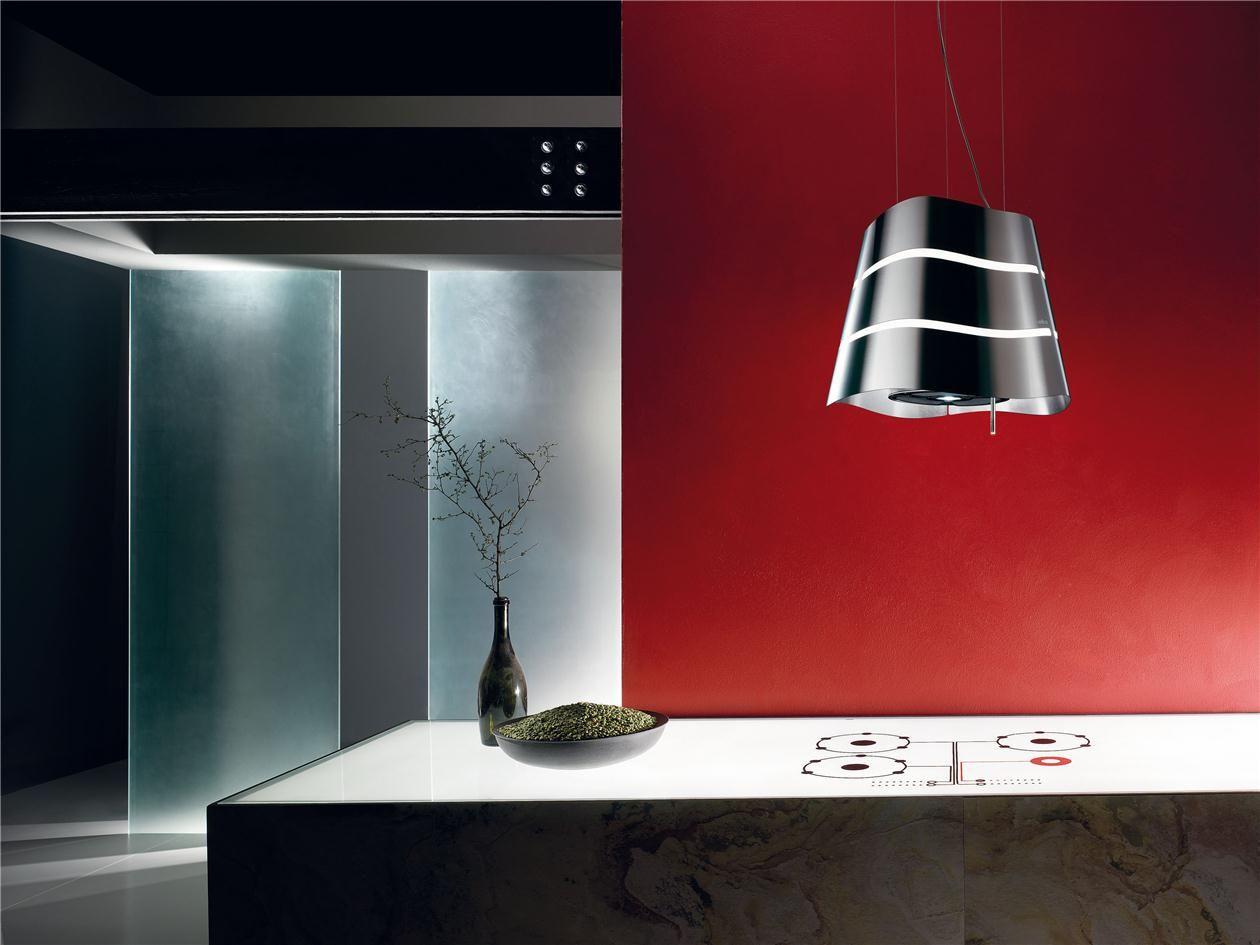 hotte cuisine elica suspendue acier inox hottes. Black Bedroom Furniture Sets. Home Design Ideas