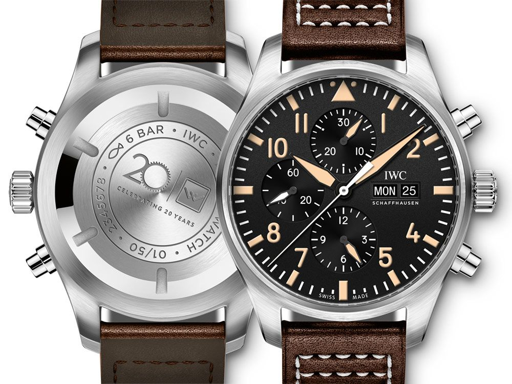 92b6bfae6cd3f The original distributor for IWC in Australia, Watches of Switzerland  pilots a collaborative anniversary watch with IWC to celebrate 20 years of  service.