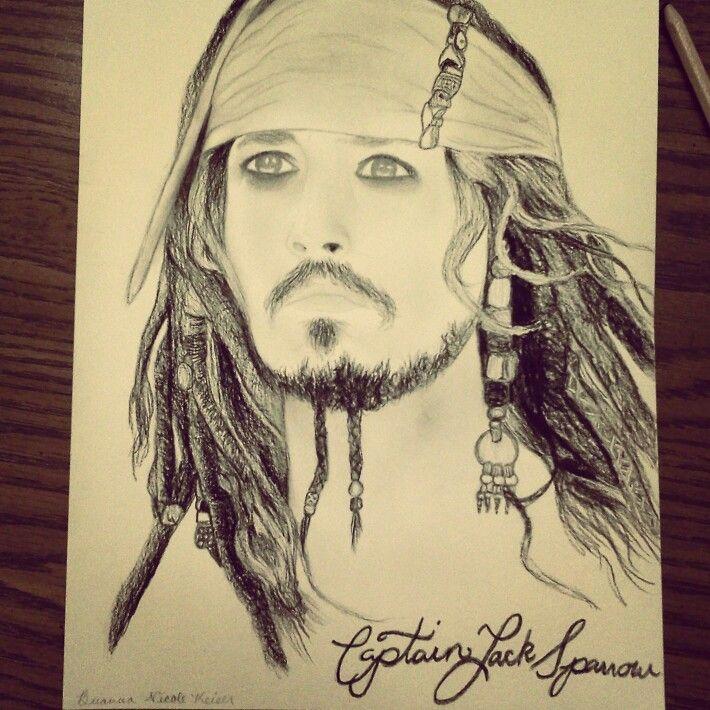 Captain Jack Sparrow Drawing Charcoal Artwork Jack