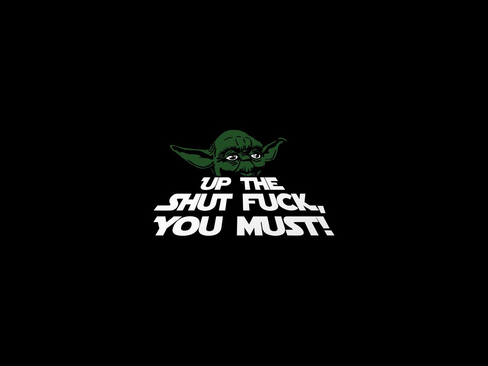 Funny Quotes Viewing Named Stfu Yoda Quotes Wallpapers
