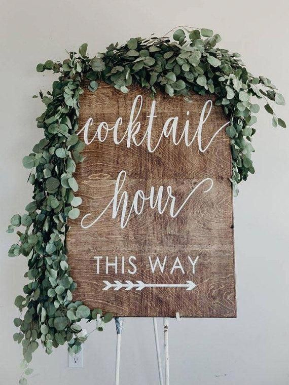 Cocktail Sign Bar Menu Sign Wedding Bar Sign Wedding Bar Menu Wedding Bar Wood sign Wedding Dinner Sign Wedding Dinner Decor Wedding Sign