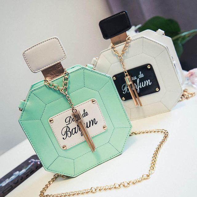 New Leather Perfume Bottle Chain Mini Clutch Bag 2016 Tassels Women Handbag Fashion Party Women Bags 2016 Evening Bags
