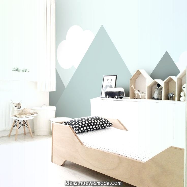 Excelente Me Encanta Esta Paleta De Colores Claros Y Suaves Y La Simplicidad Del Papel Tapiz Baby Room Decor Boy Room Kids Room Design